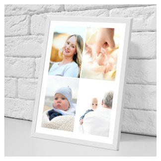 Collage en papel foto enmarcado