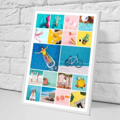 collage impreso en papel foto enmarcado